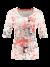Shirt met halflange mouwen en printmix
