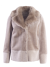 Fur wool mix jacket