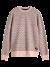 Printed melange sweater