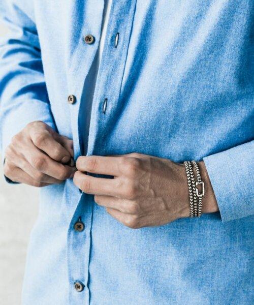 Blauw witte Pig&Hen armband