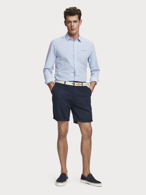 Scotch en Soda donkerblauwe chino shorts