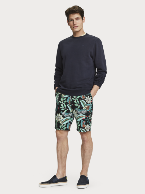 Scotch en Soda short met bladeren print