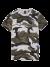 T-shirt met camo print