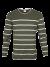 Knit sweater strepen groen