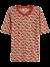 Burn-out t-shirt met print