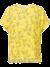 Gele top met bloemenprint