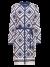 crepe jurk met grafische print