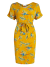 Jurk met tropische print geel